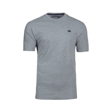 Raging Bull Grey Casual Cotton T-Shirt