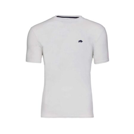 Raging Bull White Casual Cotton T-Shirt