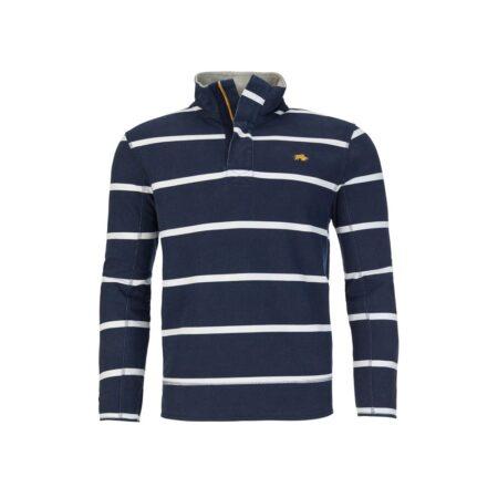 Raging Bull Navy Stripe Zip Sweatshirt