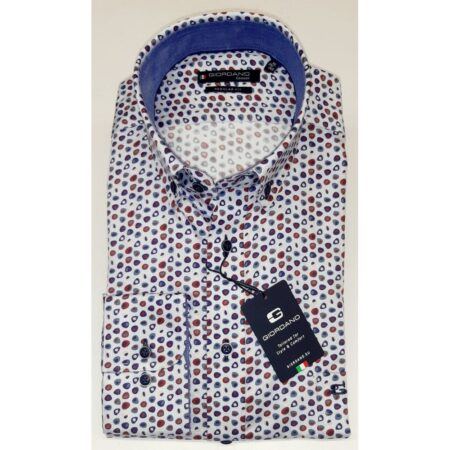Giordano Abstract Print Long Sleeve Shirt