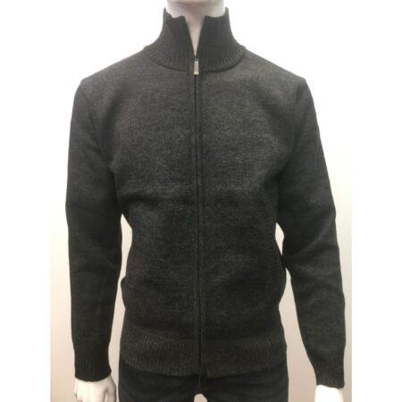 Raphael Valencino Grey Casual Zipped Top