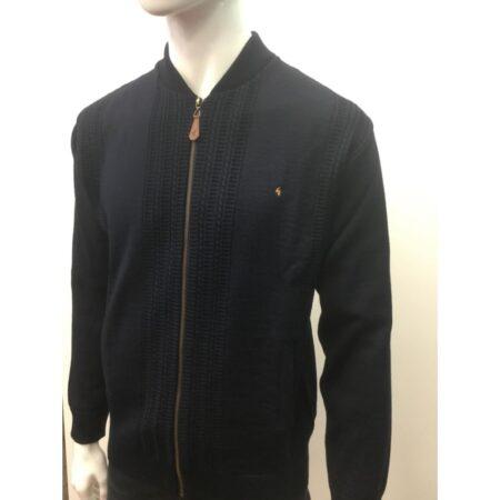 Gabicci Navy Knit Zipped Cardigan