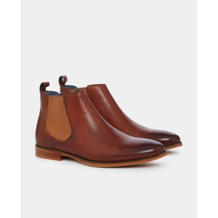 Remus Uomo Freud Tan Leather Chelsea Boots