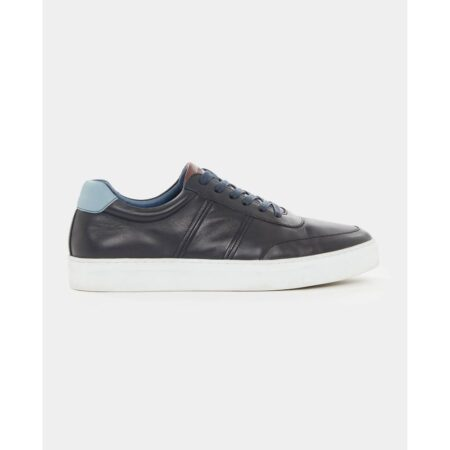 Remus Uomo Dion Navy Leather Trainers
