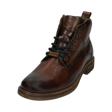 Bugatti Dark Brown Leather Ankle Boots
