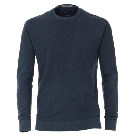 Casa Moda Blue Round Neck Sweater