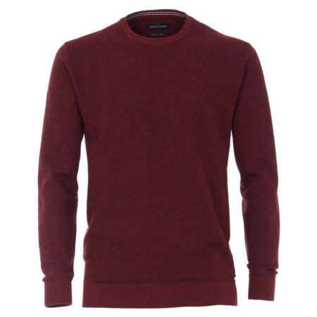 Casa Moda Burgundy Round Neck Sweater