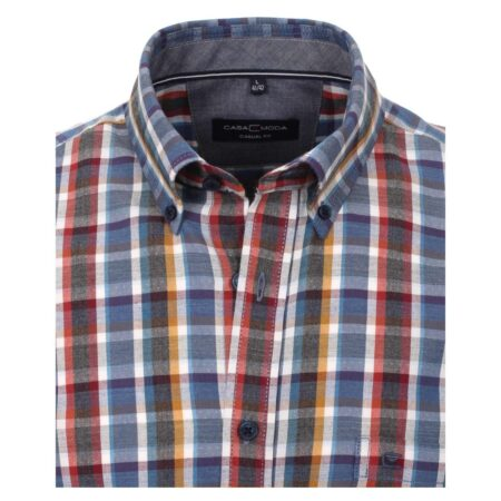 Casa Moda Multi Check Long Sleeve Shirt