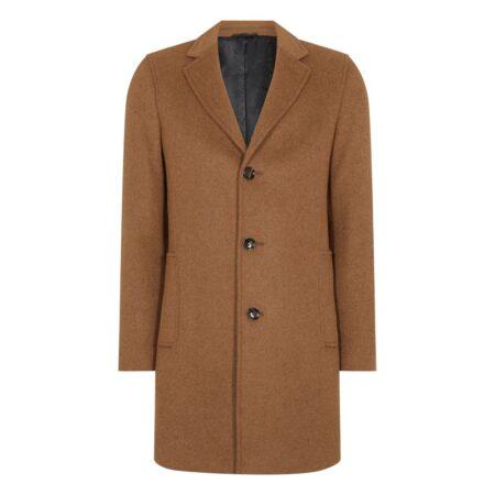 Remus Uomo Raeburn Tan Wool Coat