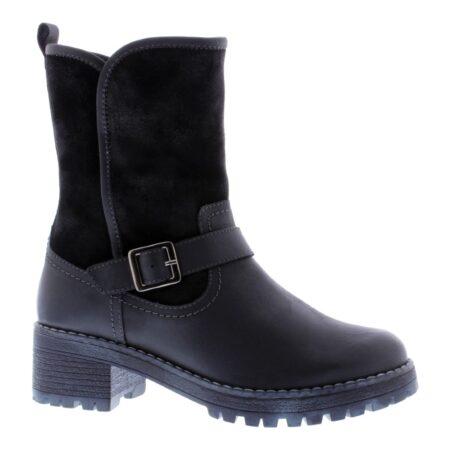 Adesso Anna Black Leather Boots