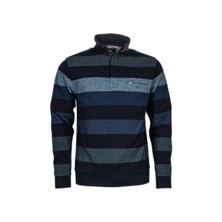 Baileys Blue Stripe Long Sleeve Top
