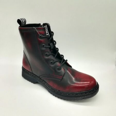 Fabs Burgundy Marbled Combat Boots