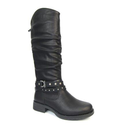 Lunar Algeria Black Knee High Boots