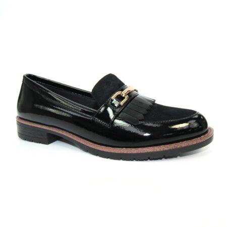 Lunar Ancora Black Patent Loafers
