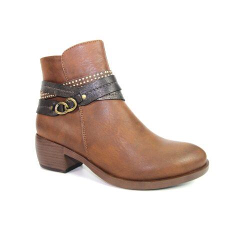 Lunar Arwen Tan Ankle Boots