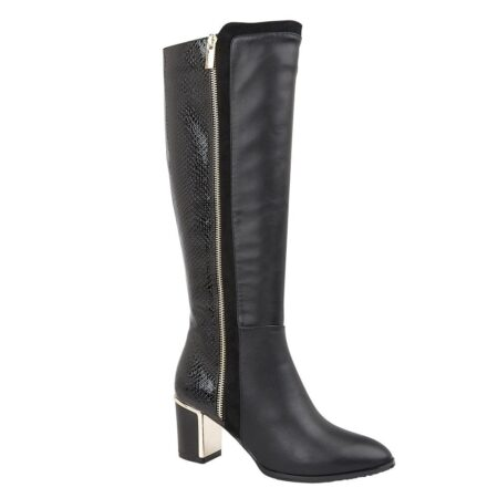 Lotus Gabrielle Black Knee High Boots