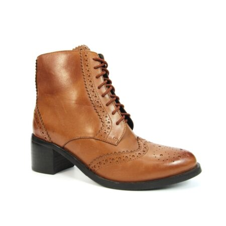 Lunar Chaivdra Tan Leather Ankle Boots