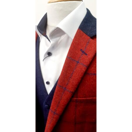 Mazzelli red check Jacket