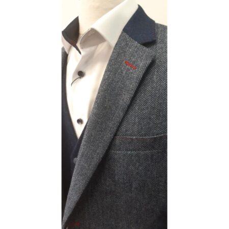 Mazzelli blue herringbone Jacket