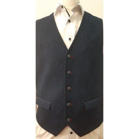 Mazzelli blue tweed waistcoat