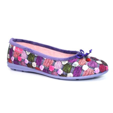 Lunar Magic Purple Print Full Slippers