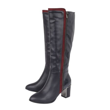 Lotus Gabrielle Navy Knee High Boots