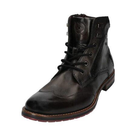 Bugatti Dark Grey Leather Ankle Boots
