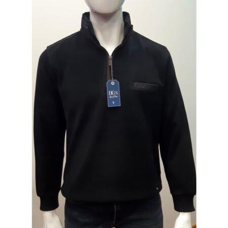 DG Drifter Black Long Sleeve Zip Top