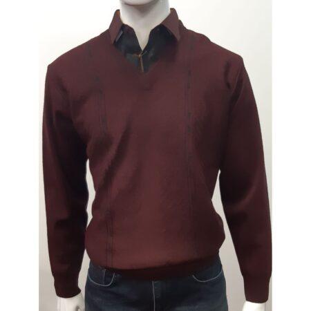 Gabicci Ox Blood V Neck Sweater