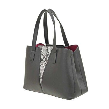 Envy Black Snake Print Handbag