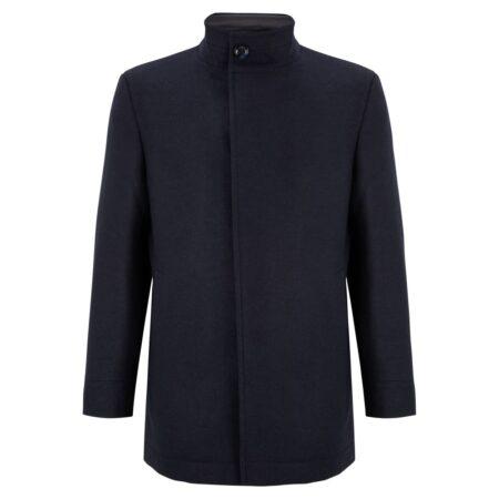 Douglas Navy Wool Coat