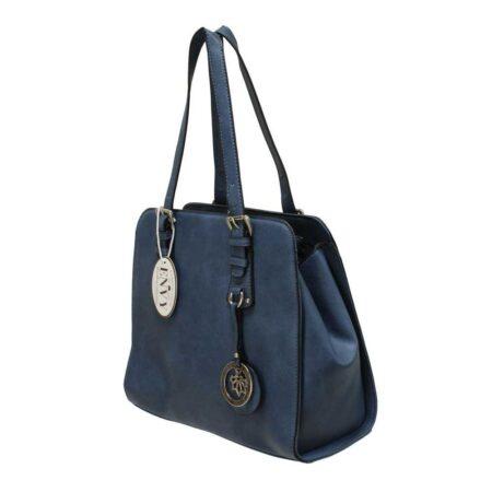 Envy Navy Structured Medium Handbag