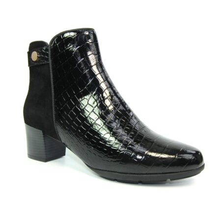 Lunar Dee Black Leather Ankle Boots