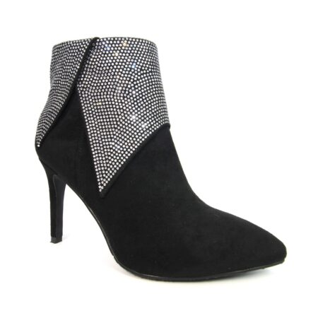 Lunar Hadleigh Black Statement Heeled Boots
