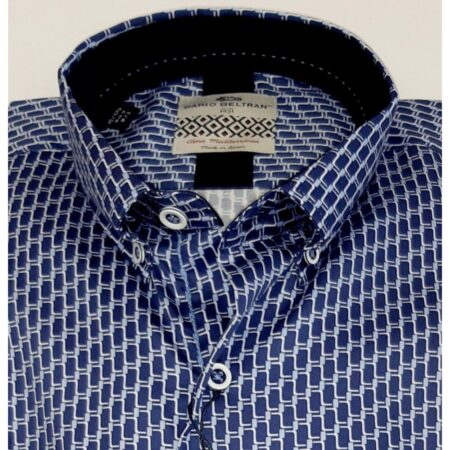 Dario Beltran Blue patterned Shirt