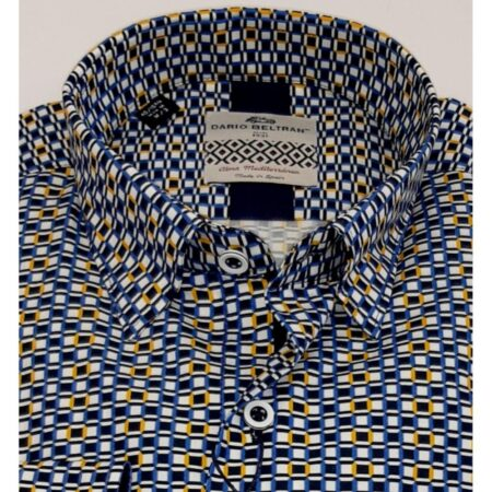Dario Beltran Navy Yellow Shirt