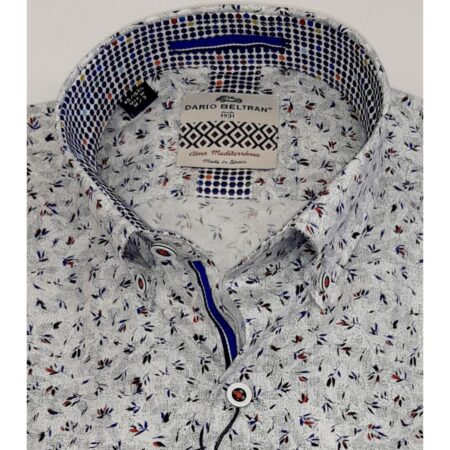 Dario Beltran Grey patterned Shirt