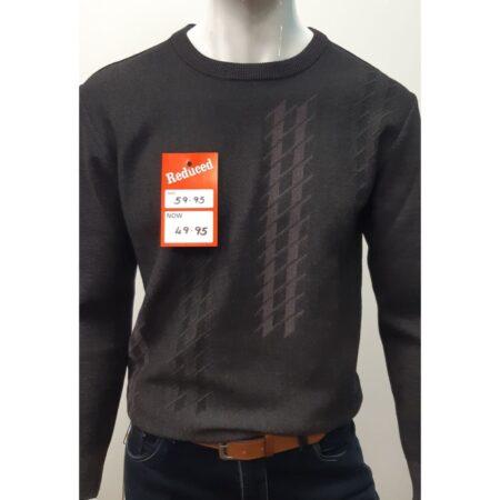 DG Prestige Grey Round Neck Sweater