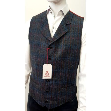 Harris Tweed Montgomerie Check Waistcoat
