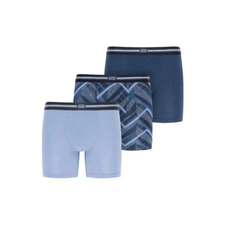 Jockey 3 Pack Blue Trunks