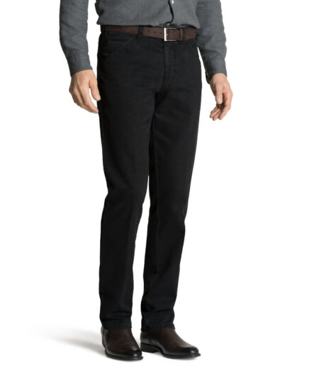 Meyer Charcoal Chicago Cotton Trousers