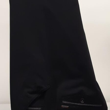 Meyer Black Chicago Cotton Trousers