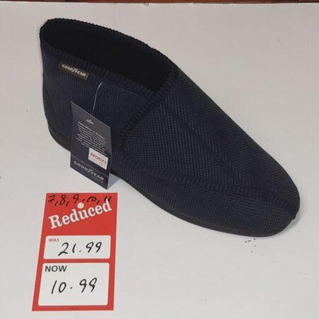 Goodyear Navy Velcro Boot Full Slippers