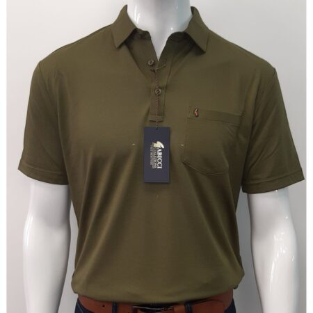 Gabicci Classic Raffia Green Sports Shirt