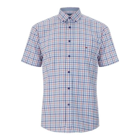 Drifter Short Sleeve Pink Check Shirt