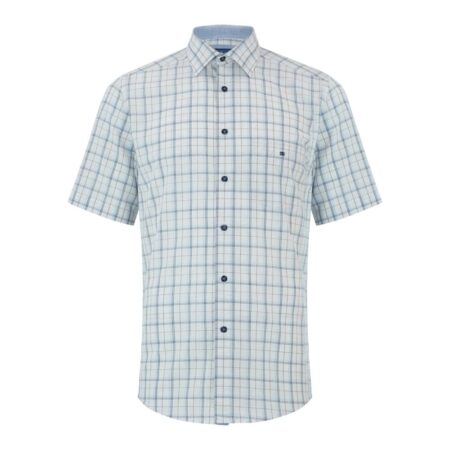 Drifter Short Sleeve Blue Check Shirt