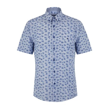 Drifter Short Sleeve Blue Floral Shirt