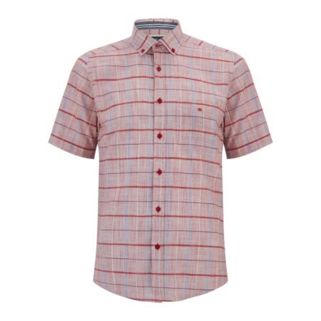 Drifter Short Sleeve Red Check Shirt