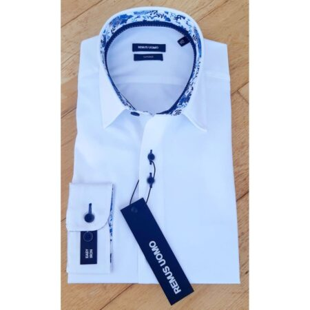 Remus Uomo White Tapered Fit Shirt