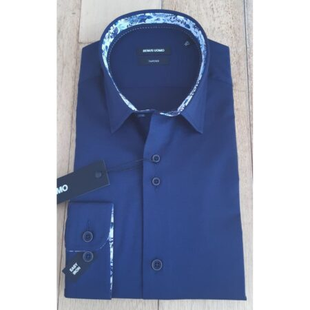 Remus Uomo Navy Tapered Fit Shirt